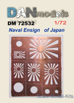 DAN72532 Photo-etching: Stencil for marking Naval Ensign of Japan