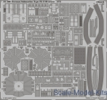Photo-etched parts: Photoetched set 1/72 German Submarine Type IX C/40 tower (Revell), Eduard, Scale 1:72
