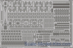 EDU-53168 Photoetched set 1/350 HMS King George V, for Tamiya kit