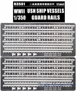 Photoetched set for WWII U.S.Navy Vessels Guard Rails
