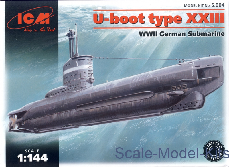 Icm s004 U-boot Type Xxiii Segunda Guerra Submarino Alemão Kit Modelo Escala 1//144