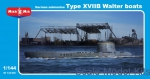 MM144-006 German submarine type XVIIB Walter boats